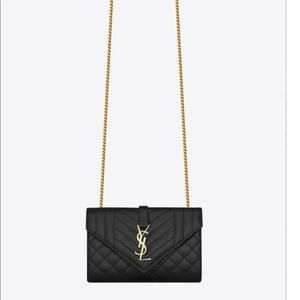 YSL ENVELOPE SMALL BAG IN MIX MATELASSÉ LEATHER